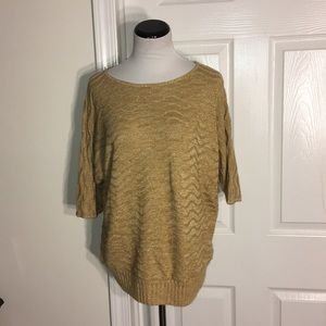 Christopher & Banks Pullover Gold Sweater Large